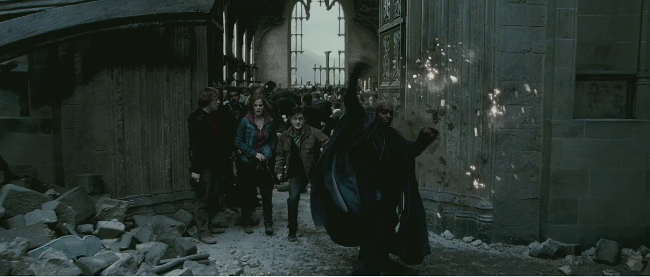 Kingsley protects Harry, Ron and Hermione